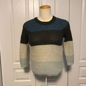 WILFRED chunky loop colour block sweater